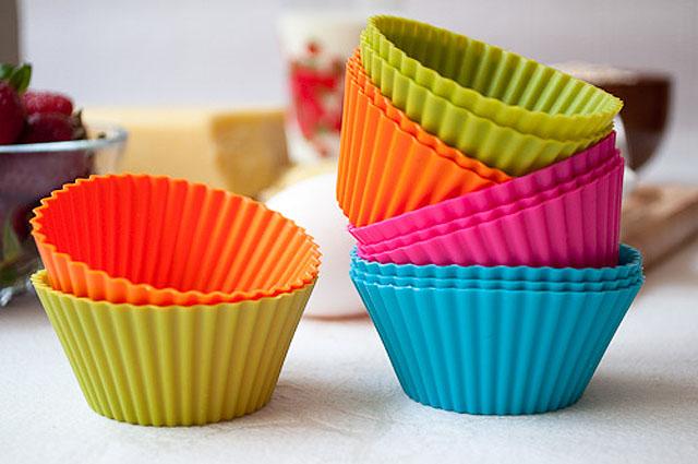 Silikonform für Muffins